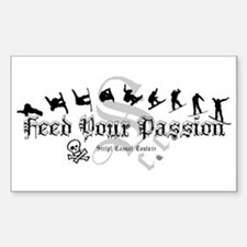 Feed Your Passion Snowboarding Rectangle Decal
