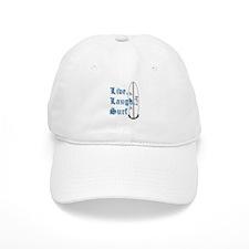 Live, Laugh, Surf Baseball Cap