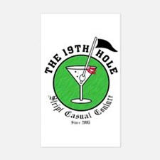 The 19th Hole Rectangle Decal