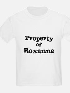Property of Roxanne Kids T-Shirt