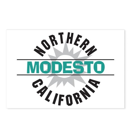 Modesto California Postcards (Package of 8)
