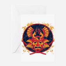 Samurai Stamp Greeting Card