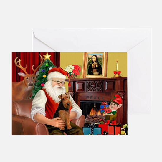 Santa's Welsh Terrier Greeting Card