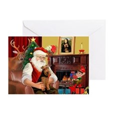 Santa's Welsh Terrier Greeting Cards (Pk of 10)