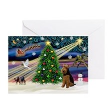 Xmas Magic/Welsh Terrier Greeting Cards (Pk of 10)