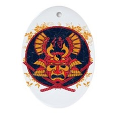 Samurai Stamp Oval Ornament