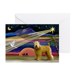 XmasStar/Wheaten (#2) Greeting Cards (Pk of 10)