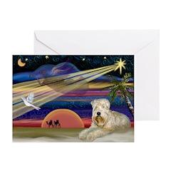 XmasStar/Wheaten (#1) Greeting Cards (Pk of 20)