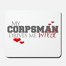Corpsman drives me wild Mousepad