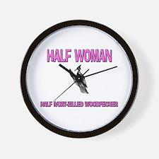 Half Woman Half Ivory-Billed Woodpecker Wall Clock