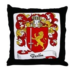 Bertin Family Crest Throw Pillow