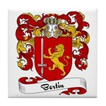 Bertin Family Crest Tile Coaster