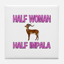 Half Woman Half Impala Tile Coaster