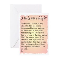 Lucky Man's DLite Greeting Card
