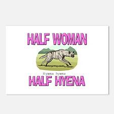 Half Woman Half Hyena Postcards (Package of 8)