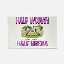 Half Woman Half Hyena Rectangle Magnet