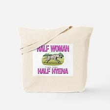 Half Woman Half Hyena Tote Bag