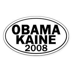 Obama-Kaine 2008 Oval Decal