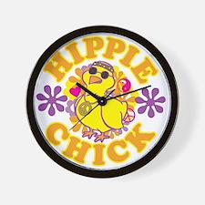 Hippie Chick Wall Clock