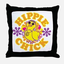 Hippie Chick Throw Pillow