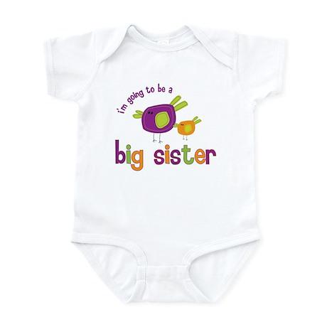big sister t-shirts birdie Infant Bodysuit