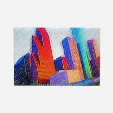 HOUSTON, TEXAS - ART Rectangle Magnet