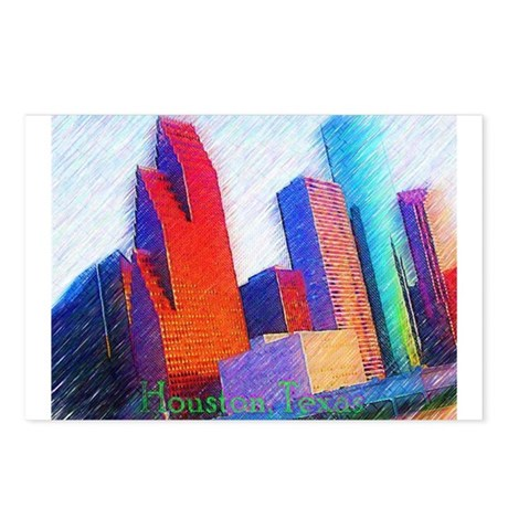 HOUSTON, TEXAS - ART Postcards (Package of 8)