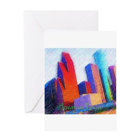 HOUSTON, TEXAS - ART Greeting Card