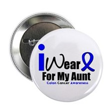"""I Wear Blue For My Aunt 2.25"""" Button"""