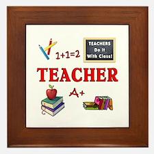 Teachers Do It With Class Framed Tile