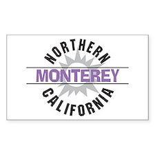 Monterey California Rectangle Stickers