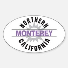Monterey California Oval Decal