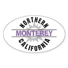 Monterey California Oval Stickers