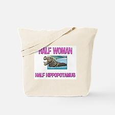 Half Woman Half Hippopotamus Tote Bag