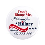 "I Voted for HILLARY 3.5"" Button"
