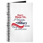 I Voted for HILLARY Journal
