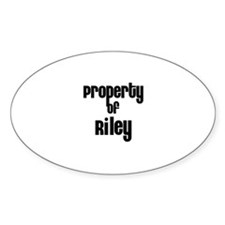 Property of Riley Oval Decal