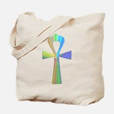 Psychedelic Ankh Tote Bag