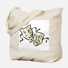 Drama Masks Tote Bag (Avocado)