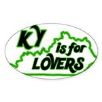 KY is for Lovers Oval Sticker (10 pk)
