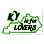 KY is for Lovers Rectangle Sticker