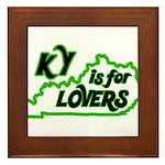 KY is for Lovers Framed Tile