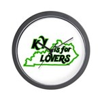KY is for Lovers Wall Clock