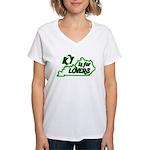 KY is for Lovers Women's V-Neck T-Shirt