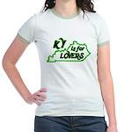 KY is for Lovers Jr. Ringer T-Shirt