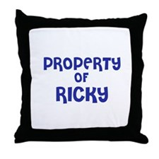 Property of Ricky Throw Pillow