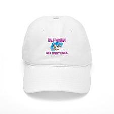 Half Woman Half Harpy Eagle Baseball Cap
