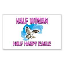 Half Woman Half Harpy Eagle Rectangle Decal