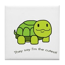 Cute Baby turtle Tile Coaster