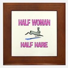 Half Woman Half Hare Framed Tile